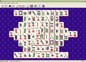 Solitaire with MahJongg tiles
